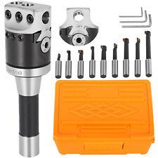 2'' Boring Head R8 Shank 9pcs 1/2'' Boring Bars Portable Kit Set Adjustable