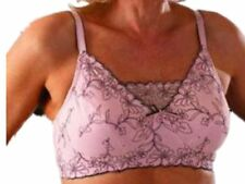 New Pink Mastectomy Bra 34C Pockets to cups No wire Pretty Royce Cocoa Blush