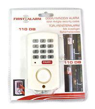 Nuevo Calidad primera Puerta Ventana Alarma código de 4 dígitos pánico 110DB seguridad sirena ruidosamente