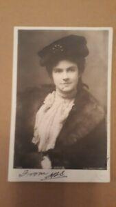 FAY DAVIS ( AMERICAN ACTRESS ) REAL PHOTO POSTCARD POSTED 1903