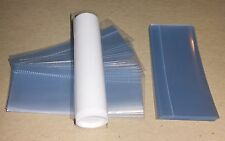 100 clear SHRINK WRAP BANDS for lip balm (Chapstick) tubes VERTICAL PERFORATION