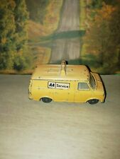"""Dinky Toys 3.5"""" BEDFORD AA Service VAN  Diecast YELLOW Toy Car Vintage No:412"""