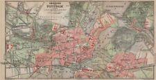 POTSDAM town city stadtplan & environs/umgebung. Nowawes. Brandenburg 1913 map