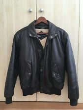 Members Only Vintage Leather men Jacket Small 38 removable fleece-lined Great