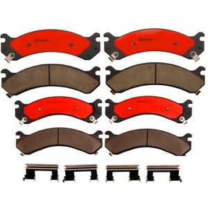 Front and Rear Brembo Brake Pads Set Kit For Chevrolet Silverado 3500 2001-2003