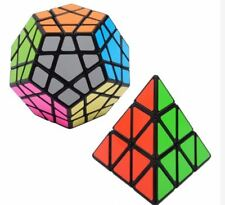 Megaminx Pyraminx Speed Rubik's Cube Bundle Black