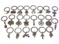 Bronze Plated Keyring Key Chain *buy 2 get one free* Camera Scissors Ankh Cleff