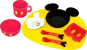 Disney Mickey Mouse icon Baby kids Tableware Dishes Plate set 8pcs
