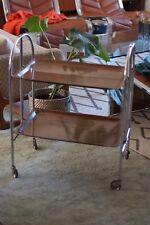 Mid Century Folding Table Drinks Cart Cocktail Bar Tea Trolley Retro Vintage
