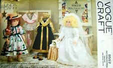 "Vogue 8557 18"" Doll Clothes Pattern Wedding Dress Gown by Linda Carr - Uncut"
