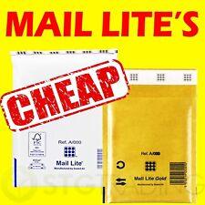 MAIL LITE BUBBLE BAGS WHITE + GOLD A000 B00 C0 D1 E2 F3 G4 H5 J6 K7 FREE 24h