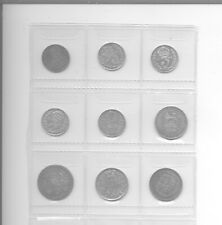 More details for 9 sixpence & threepence coins includes 1887 young head & 1787 all in good grade