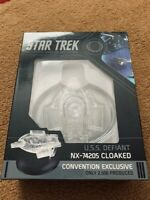 2019 NYCC Star Trek DS9 Cloaked U.S.S. Defiant Eaglemoss Exclusive! NEW.