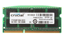 40GB Crucial 10X 4GB Kits 2RX8 PC3-8500 DDR3-1066Mhz 204Pin Laptop Memory RAM &N