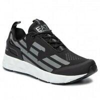 EA7 Baskets Emporio Armani Homme X8X033 XCC52 2021 Chaussures Noir Blanc Gris