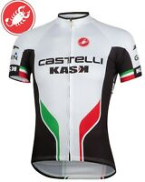 Castelli White Servizio Corsa Men's Cycling Jersey Size XS-3XL : BEST SELLER