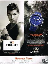 Publicité advertising 2011 La Montre Tissot Seastar 1000 avec Nicky Hayden