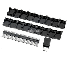 10 Pcs Micro USB 5 Pin Male Connector Port Solder Plug Plastic Cover for DIY