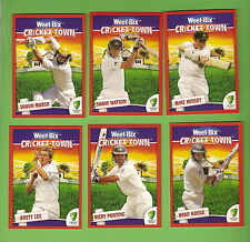WEETBIX  CRICKET TOWN CARD SET - FIRST SERIES