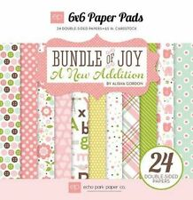 "ECHO PARK ""BUNDLE OF JOY A NEW ADDITION GIRL""  6X6 PAPER PAD BABY SCRAPJACK PL"
