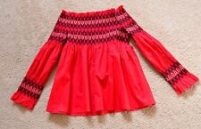 MAJE LEZKY BLOUSE WITH SMOCKING size 1 US XS