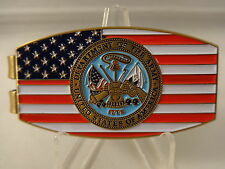 US ARMY Money Clip USA United States Seal Logo Enlisted Officer Soldier Gift