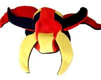 PLUSH CRAZY PARTY HAT jester dressup carnival mens womens wild costume hats CH28