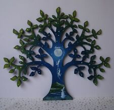 Hand Painted Wooden Tree Plaque Made to Order. Moontree