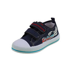 BOYS KIDS CHILDRENS SHOES LEATHER INSOLE TRAINERS CANVAS SIZE 8 8.5 9 10 11 11.5