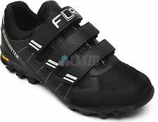 FLR Bushmaster MTB/Trail Shoe in Black/Silver With Fastening - Size 39