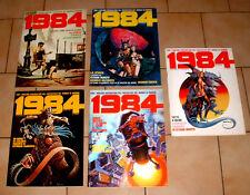 1984 ( 5 Fumetti ) CON I MIGLIORI DISEGNATORI DEL FANTASTICO NEL MONDO DI DOMANI