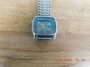 Seiko alarm chronograph A714 led men's wrist watch
