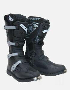 Wulfsport Track Star Adult Motocross Boots Quad ATV Dirt Bike Quad Wulf Size 44