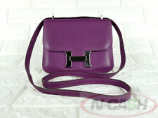 BIDSALEONLY! AUTHENTIC $7650 HERMES Constance 18 Mini Anemone Swift Leather Bag