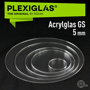 PLEXIGLAS® GS 5mm ## Laserpoliert ## Kreise, Ringe, runde Scheiben Ø30-Ø700 mm