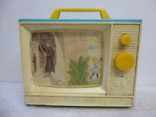 Vintage Fisher Price Wind Up Musical TV Frere Jacques & On The Bridge Of Avignon