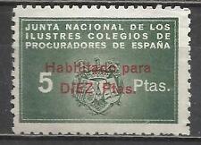 7403-SELLO FISCAL CORPORATIVO COLEGIO PROCURADORES 10+5 PESETAS