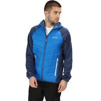 Regatta Mens Anderson IV Hybrid Jacket Top - Blue Navy Sports Outdoors Full Zip