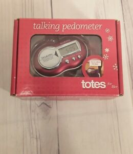 Totes Talking Pedometer Red.                    A2
