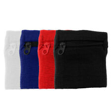 4x Stretchy Breathable Wristband Sweat Absorbing Armband Wallet for Fitness Yoga