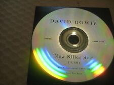 DAVID BOWIE New Killer Star RARE AUSSIE 1 TRACK PROMO CD SINGLE 2003 - SAMP 2593
