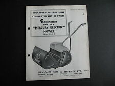 Ransomes Parts List Mercury Electric Mower Mk 3   15 PAGES