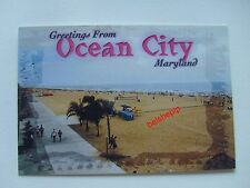 Greetings From Ocean City, Maryland, USA, Postcard, Beach