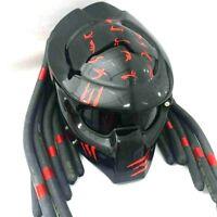 2099 Predator Helmet Motorcycle Glossy Black Handicraft Sisak hjälm ヘルメット : M,L