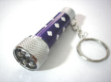"LED Key Chain Flashlight Ultra Glow Light Purple 2.5"""