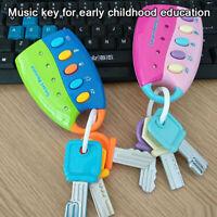 Baby Remote Control Musical Car Key Toy Chanin Light Play Education KeychainSJWM