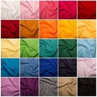 100% Cotton Fabric - 40 Colours, 135cm, 160gsm Medium Weight Craft Fabric