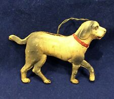 Antique German Dresden Dog Christmas Ornament