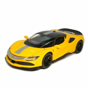 1:32 Ferrari SF90 Supercar Model Car Diecast Toy Vehicle Collection Gift Yellow