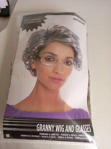 Granny Wig And Glasses